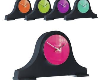 Roco Verre Block Louis Mantel Clock Black