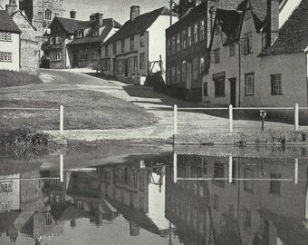 FinchingField Essex 1950s vintage Print B & W photograph Vintage ephemera Street art Uk Village