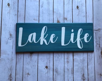 Lake life sign, wooden sign, beach decor, life is better, beach house, beach decor, lake house decor, tiki bar sign, beach lover, sign