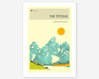 GRAND TETON National Park (Giclée Fine Art Print/Photo Print/Poster Print) 'The Tetons' by Jazzberry Blue