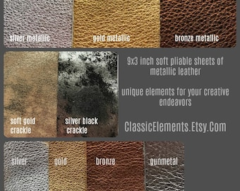 Choice of 9X3 Leather, leather trim, metallic leather, sheet leather, leather goods, leather, silver leather, metallic leathers