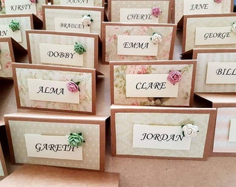 Vintage place settings, place cards, wedding table settings, place settings, vintage style place cards