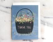 Flower Basket thank you card