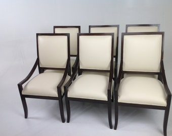 Modern dining chairs with custom finish     free shipping