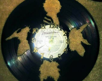 Beetlejuice Record Vinyl Clock