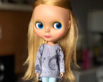 Long Sweatshirt for Blythe doll_Licca_Azone_jersey_long