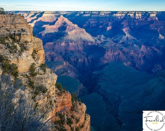 """Magnificent Grand Canyon """"South Rim Chasm 2"""" Fine Art Photograph (9.5"""" x 13.25"""" print on 14"""" x 18"""" archival board) Limited Edition Signed"""