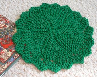 PDF Dishcloth Pattern for Hand Knit Heirloom Round Dishcloth Washcloth or Doily