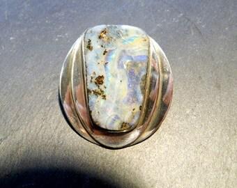 Pendant, sterling silver, Boulder Opal, iridescent, opal pendant, jewelry, pendant xxl