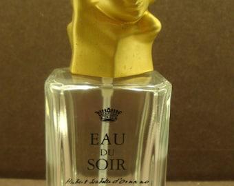 Collectible Sisley Eau Du Soir Bottle Empty With Sculptural Stopper  REF 196100