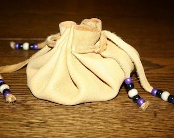 Elk Leather Pouch Medicine Bag