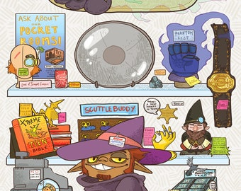 Fantasy Costco, Adventure Zone Print [DIGITAL DOWNLOAD]