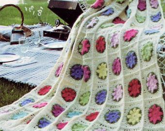Afghan Crochet Pattern, Flower Afghan Crochet Pattern, Crochet Afghan Pattern, Bridal Shower Gift Idea, INSTANT Download Pattern PDF (1011)