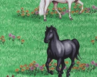 Tissu-Robert Kaufman poneyclub en vert
