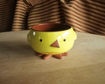 Inspirations from Hallmark Spring Easter Yellow Chick Candy Serving Dish Bowl