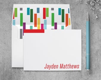 Personalized Notecards Kids, Personalized Stationary Set for Girls, Note Cards Personalized Kids Gifts for Boys, Kids Stationery Thank you