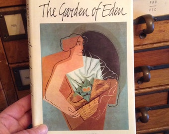 The Garden of Eden by Ernest Hemingway, Vintage Book, Hardcover Book, Book Collector Gift, Classic Book, Collectible Book,
