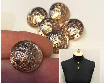 Metal buttons set 6pieces