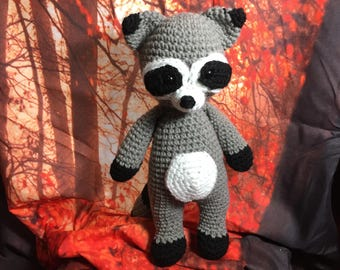 Crochet Raccoon Stuffed Toy - Woodland Collection; Handmade by KCCrochetGuy
