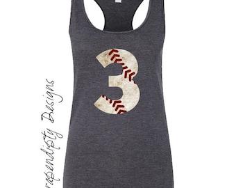 Womens Baseball Tank Top - Baseball Mom Outfit / Custom Baseball Digital File / Baseball Sister Tank / Girls Baseball Iron on Transfer IT421