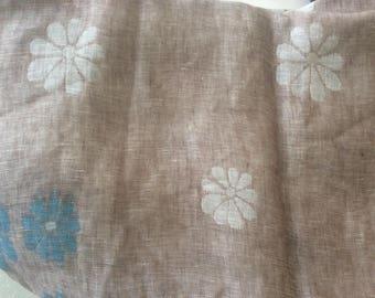 145 cm breed kleur taupe linnen stoffen