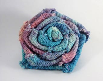 Very colorful and unique silk flower brooch