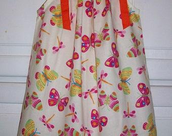 SALE Butterfly Dress, Pillowcase Dress, Colorful, Summer Dress, Sundress, baby dress, toddler dress, girls dress, Butterflies