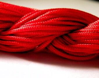 12 M Fil macrame Shamballa-red - AL 2 2 mm nylon cord