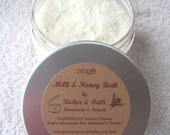 Coconut Bath Milk with Honey, Luxury Coconut Bath Soak, Coconut Goat's Milk Bath, Milk & Honey Spa Bath
