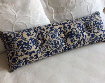 Nomad Indigo  9x25 Bolster/lumbar pillow available in many of our fabrics