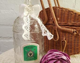 Vintage 1980's Refillable Guerlain Paris Eau De Cologne Imperiale - Glass Perfume Bottle