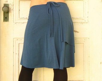 Organic Wrap Skirt (Soy or Bamboo Organic Cotton) - Many Colors Available - Adjustable, Maternity, Travel - Made to Order by Rowan Grey