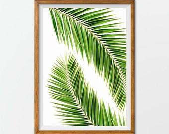 Palm Tree Print, Palm Tree Art - Palm Tree Printable, Palm Tree Artwork Office Decorations, House Decor Wall Art Print