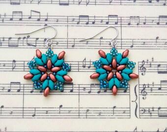 Perfect Teal StarBurst Earrings