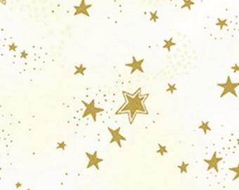 Clothworks - Laurel Burch Enchantment - Star - Cream Metallic