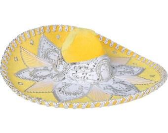 Sombrero Charro Amarillo/Silver-600759