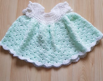 0-3 months baby dress and poncho