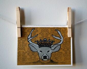 Deer Monarch Notecard