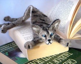 Splat bookmark  -  TWO cats as a Custom  Cat bookmark