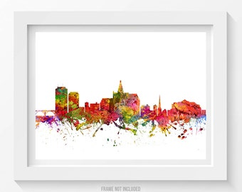 Saskatoon Poster, Saskatoon Skyline, Saskatoon Cityscape, Saskatoon Print, Saskatoon Art, Saskatoon Decor, Home Decor, Gift Idea 08