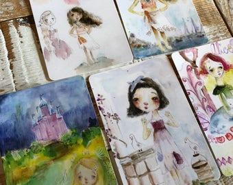 Princess  - postcard set of 5