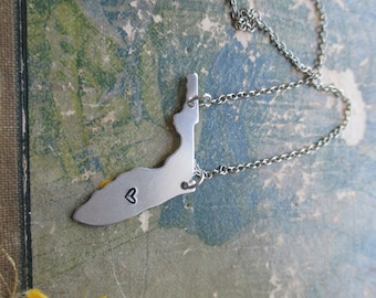 The Bessie Necklace - Florida Love Pendant Necklace or Key Chain
