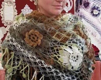 wool shawl is crochet