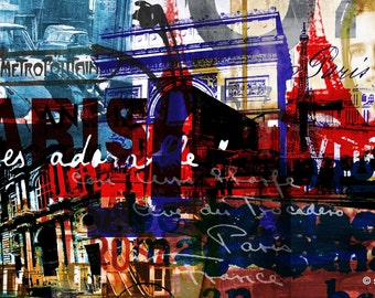 PARIS I by Sven Pfrommer - 140x70cm Artwork is ready to hang