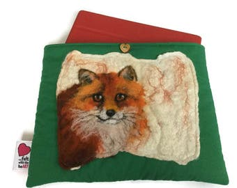 Luxury padded iPad / tablet case with original artwork fox