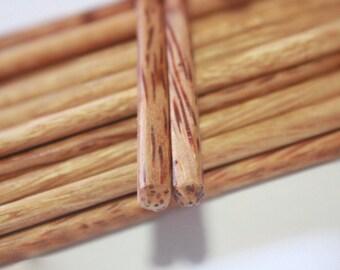 "Chopstick Classic Japanese Handmade Coconut Wood 2 4 6 8 10 Pairs 9.50"""