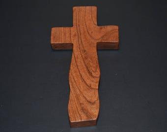 "Wood Cross; Christian; Cross Wall; Wall Cross; Wedding Gift; Sympathy Gift; Mesquite 4""x7""x1""; Free Ground Shipping USA; cc15-1061917"