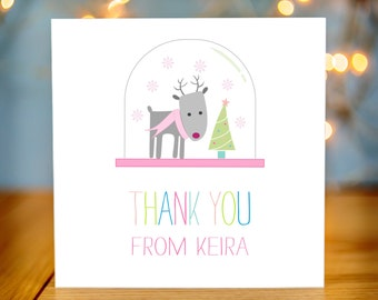 Personalised Childrens Christmas Thank You Card Packs - Kids Christmas Thank You Cards - Packs of Christmas Thank You Cards