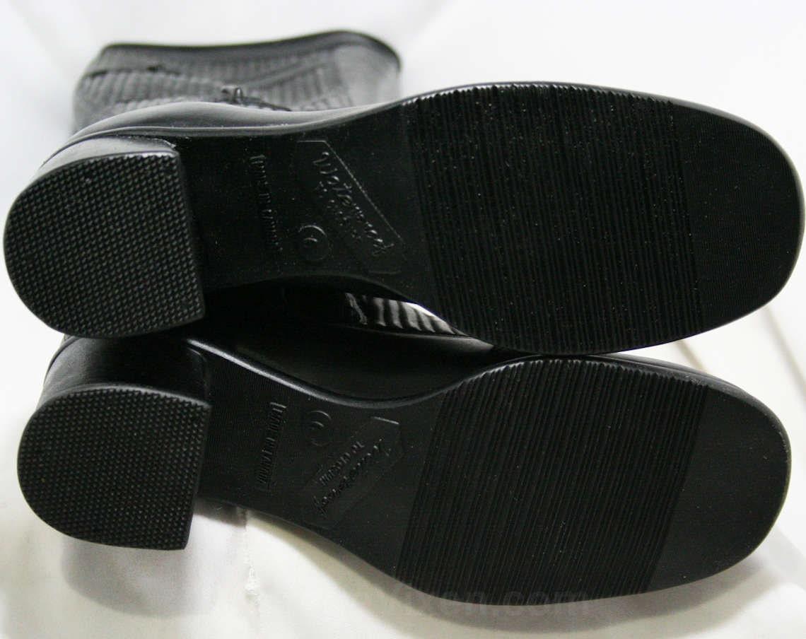 Taille 6 bottes de Trompe l'oeil noir des années 60 - en caoutchouc noir l'oeil imperméable à l'eau - sophistiquée des années 1960 - Faux boucles - polaire doublé - neuf - cadavres d'animaux - 43709-3 4fd40e