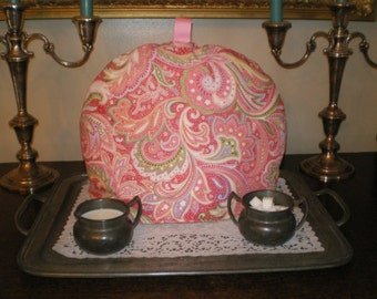 ON SALE!!  Was 25.00 - Tea Cozy, Insulator, Warmer, English Style, Paisley pink